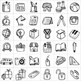 Hand drawn icons 002 royalty free illustration