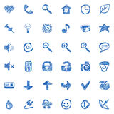 Hand drawn icons. Vector set Stock Image