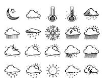 Hand drawn icons 011 Royalty Free Stock Photos
