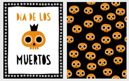 Dia de los Muertos. Halloween Vector Illustration Set. vector illustration