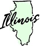 Hand Drawn Illinois State Sketch Royalty Free Stock Photos
