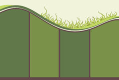 Hand drawn illustrated grassy background. Illustrated grassy hill with copy space background Stock Photography