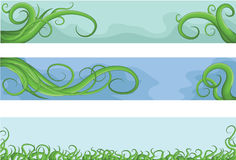 Hand drawn illustrated jumbled vine banners Stock Photo