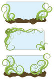 Hand drawn illustrated jumbled vine frames Stock Images