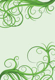 Hand drawn illustrated jumbled vine page border Stock Photography