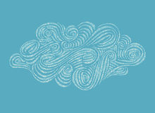 Hand-drawn illustratio σύννεφων διακοσμήσεων Στοκ φωτογραφία με δικαίωμα ελεύθερης χρήσης