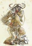 Minotaur, Theseus Stock Image