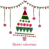 Hand drawn illustration for Christmas. Royalty Free Stock Photography