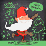 Hand drawn illustration for Christmas and New Year. Royalty Free Stock Images