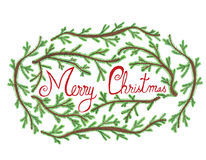 Hand-drawn illustration for Christmas Royalty Free Stock Image