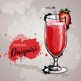 Hand drawn illustration of cocktail daiquiri Stock Photo