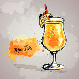 Hand drawn illustration of cocktail mai tais Stock Photo