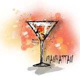Hand drawn illustration of cocktail. Stock Photo