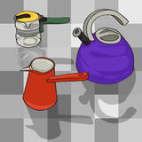 Kitchen kettles Royalty Free Stock Photos