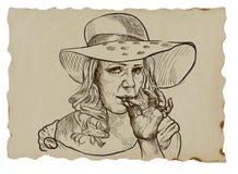 Smoker vector illustration