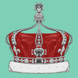 Hand drawn illustration of Crown. Hand drawn illustration opf Crown. Vector Stock Photo