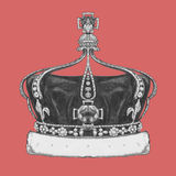 Hand-drawn illustration of Crown. Vector Royalty Free Stock Images
