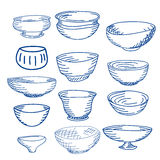 Hand drawn illustration of cups Stock Photography