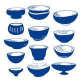 Hand drawn illustration of cups Royalty Free Stock Photo