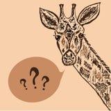 Hand drawn illustration of giraffe Stock Images