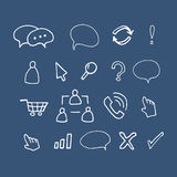 Hand drawn  illustration icons Stock Images