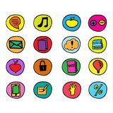 Hand drawn  illustration icons Royalty Free Stock Photo