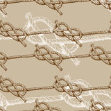 Hand drawn illustration knots. Brown attern. Vector design Royalty Free Stock Image