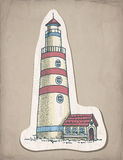 Hand drawn illustration of lighthouse Royalty Free Stock Image