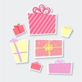 Hand drawn illustration - Magic gift boxes. Valentine's D. Ay stock illustration