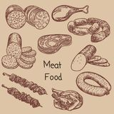 Illustration of  meat food 1 royalty free illustration