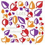Hand-drawn illustration of simple tree leaves isolated. Autumn s Stock Image