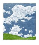 Hand drawn illustration of sky Royalty Free Stock Photo