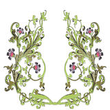 Hand drawn illustration of twig with flowers and leaves Baroque Royalty Free Stock Photography