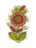 Magic flower. Hand drawn, , illustration in Ukrainian folk style royalty free illustration
