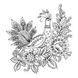 Spring. Hand drawn, , illustration in Ukrainian folk style Royalty Free Stock Images
