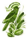 Bird flower ethnic style. Hand drawn, , illustration in Ukrainian folk style vector illustration