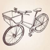 Hand-drawn illustration of vintage bicycle. Royalty Free Stock Photos