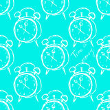 Hand-drawn illustrations. Alarms on the background Royalty Free Stock Photo