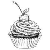 Hand-drawn illustrations of dessert. Hand-drawn illustrations of cakes and baked desserts Royalty Free Stock Photography