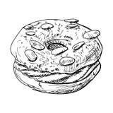 Hand-drawn illustrations of dessert. Hand-drawn illustrations of cakes and baked desserts Royalty Free Stock Image