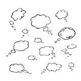Hand drawn illustrations for use as a group or on their own Royalty Free Stock Images