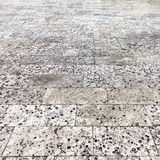 Hand drawn image of road surface paved with small bricks Stock Photo