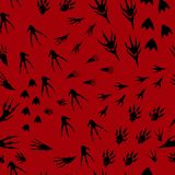 Hand drawn imprint of paws of monsters, seamless pattern traces Royalty Free Stock Photos
