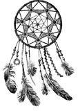 Hand drawn indian dream catcher Royalty Free Stock Photo