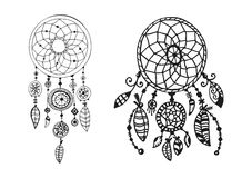 Hand drawn indian illustration Royalty Free Stock Images