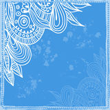 Hand drawn indian patterned frame Stock Photo