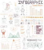 Hand drawn infographic elements Stock Photos