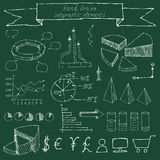 Hand drawn infographic elements. Sketching Stock Images