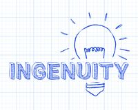 Ingenuity In Light Bulb Graph Paper Royalty Free Stock Images
