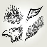 Hand drawn ink Eagle wing feather Royalty Free Stock Photo